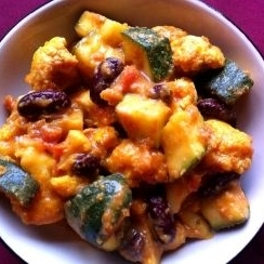 Cauliflower, Courgette, and Kidney Bean Korma