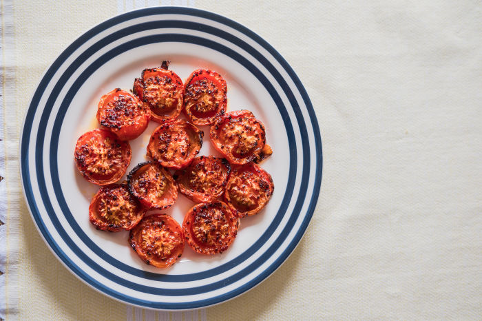 Slow Roast Tomatoes with Chilli Flakes