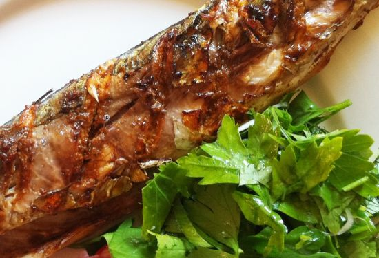 Mackerel with Kashmiri masala marinade
