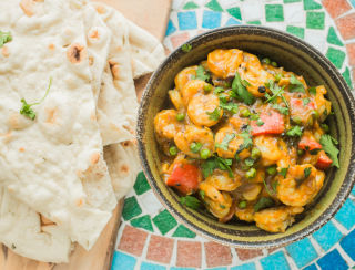 Pea and Prawn Balti (small)