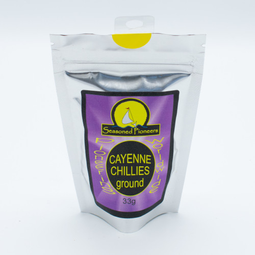 Seasoned Pioneers Cayenne Chillies Ground 33g