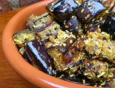 Aubergine and Coconut Fry