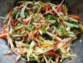Fennel, apple and cucumber salad